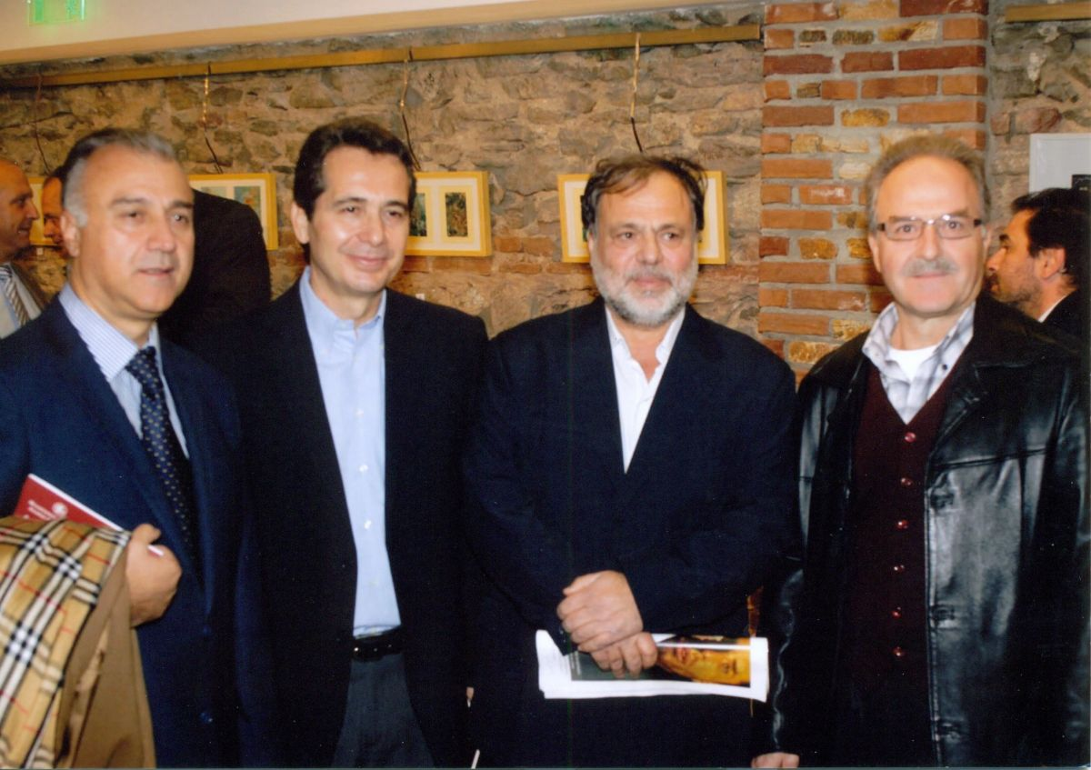 """Εγκαίνια έκθεσης ζωγραφικής του Ντίνου Γιωτόπουλου """"Αποτυπώματα Ψυχών"""", 16.11.2011"""
