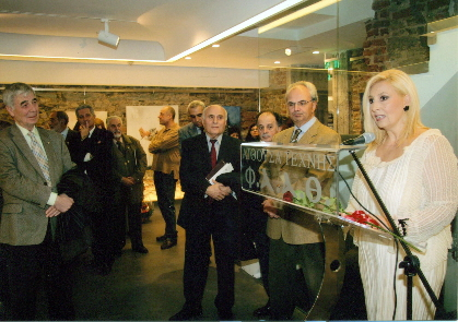 """Εγκαίνια έκθεσης ζωγραφικής της Β.Ρεΐση """"epistrophy"""", 5.12.2011"""