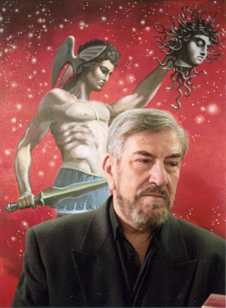 Στιγμιότυπο από τα εγκαίνια της έκθεσης του ζωγράφου Γιάννη Νίκου