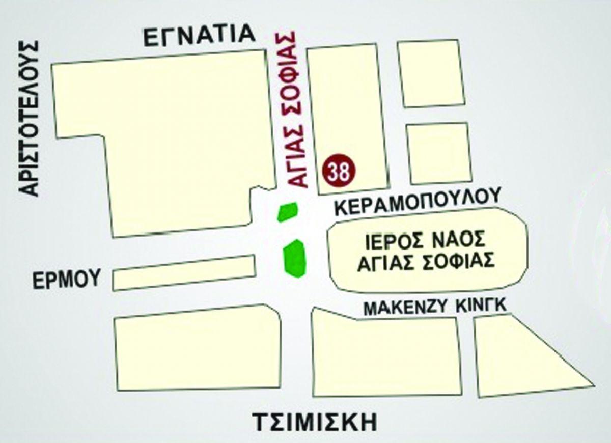 """Χάρτης πρόσβασης στο """"Πωλητήριο Φ.Α.Α.Θ."""""""